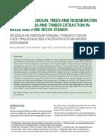 Oštećenja Na Podmlatku i Ostalim Stablima Tokom Sječe i Privlačenja u Čistim i Mješovitim Bukovim Sastojinama