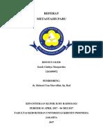 Sarah Cinthya 1261050072 - Gambaran Radiologi Metastasis Paru
