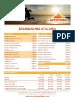 EXCURSIONES -AO -$ PESOS