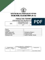 Spesifikasi Progdi Teknik Elektro