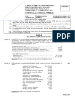 Accountancy & Auditing Paper-II-2015