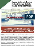 GIG DESARROLLOS INMOBILIARIOS Venta de Casas en Tijuana en Medio del Fuego Cruzado por la Narco Rioja Tijuana