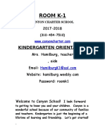 Kinder Orientation Letter 2017-18