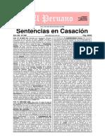 Sentencias en Casacion - Edicion 620 - 30 de Diciembre Del 2009 -144 Pags - El Peruano