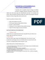 Daftar Nomenklatur Kebidanan dan Diagnosa Kebidanan