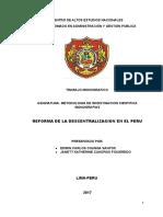 Monografía_Reforma de La Descentralizacion