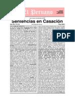Sentencias en Casacion - Edicion 618 - 4 de Diciembre Del 2009 - 192 Pags. - El Peruano