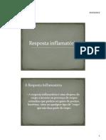 Resposta inflamatória e sistema linfático - 8º Ano