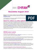 EMFAN Newsletter August 2010