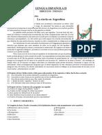 LENGUA ESPAÑOLA II - Ejercicios Unidad 4