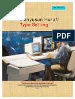 Menyusun Huruf Type Setting