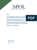 Construcción sostenible con Contenedores