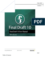 Final Draft 10 Manual