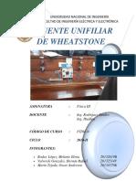 FISICA III Labo N_ 3 Puente Unifiliar de Wheatstone