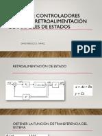Diseño de Controladores Mediante Retroalimentación de Variables de Estado