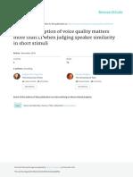 Holistic Perception of Voice Quality