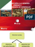 Unidad 3 Procesamiento de Minerales