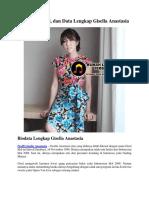 Biodata, Profil, Dan Data Lengkap Gisella Anastasia