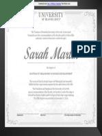 PhD Degree Certificate