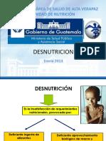 1. Definición y Tipos de Desnutrición 2. Antropometria 3. Curvas