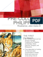 Precolonial Philippines - History Project by Ricablanca