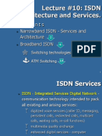 10. ISDN Architecture and Services