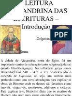8 a Leitura Alexandrina Das Escrituras