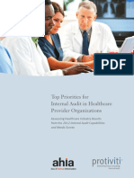 AHIA Protiviti 2012 Healthcare IA Survey