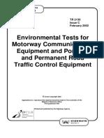 Tr2130c - Environmental Tests for Equipment(1)