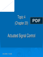 Topic 4 - Actuated Signal Operation