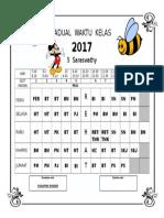 Jadual Waktu Kelas 2017