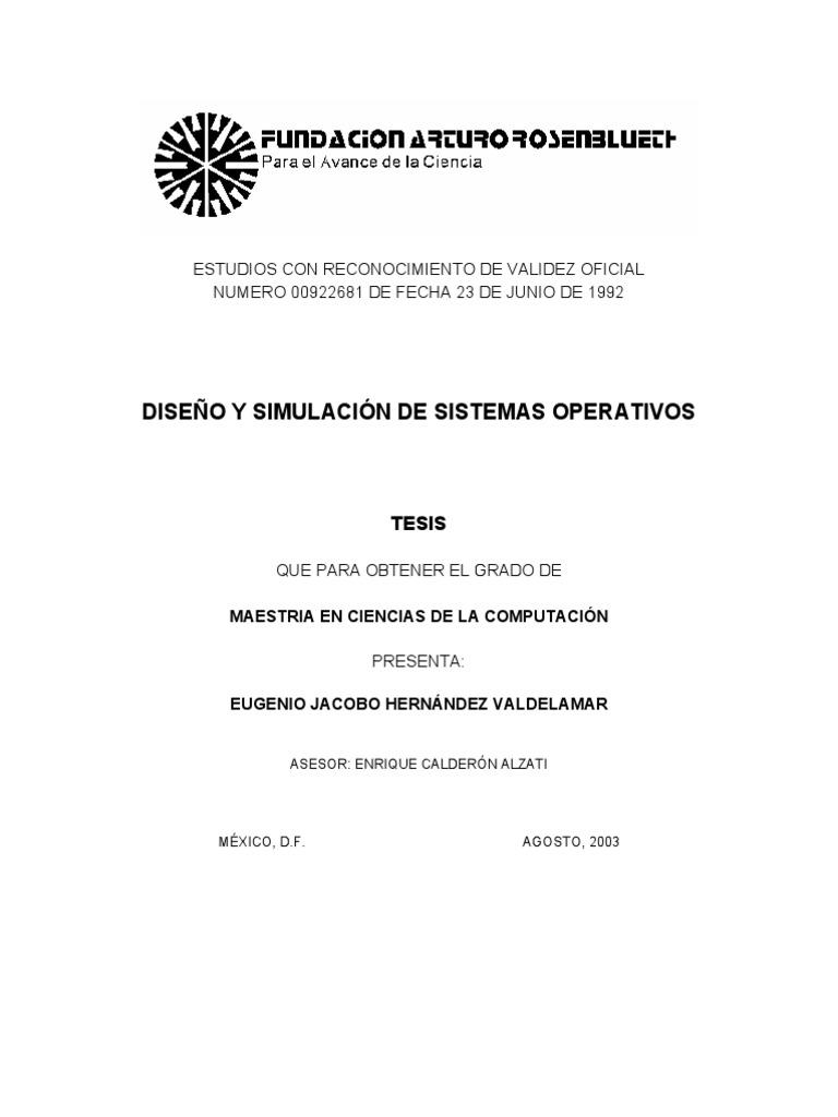 Diseño y simulación de sistemas operativos