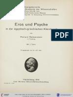 Reitzenstein, Eros Und Psyche in Der Ägyptisch-griechischen Kleinkunst (1914)