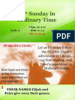 Bishops Homily - 19th Sunday in Ordinary Time