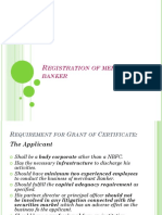 Registration of Merchant Banker