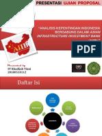 Kepentingan Indonesia Bergabung dalam AIIB