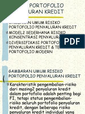 strategi portofolio terdiversifikasi yang sederhana apa perdagangan opsi di pasar saham indonesia
