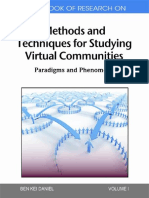 (Paradigms and Phenomena 1) Ben Kei Daniel-Handbook of Research on Methods and Techniques for Studying Virtual Communities_ Paradigms and Phenomena, Volume 1 -IGI Global Snippet (2010)