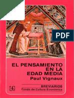 Paul Vignaux - El Pensamiento en la Edad Media.pdf