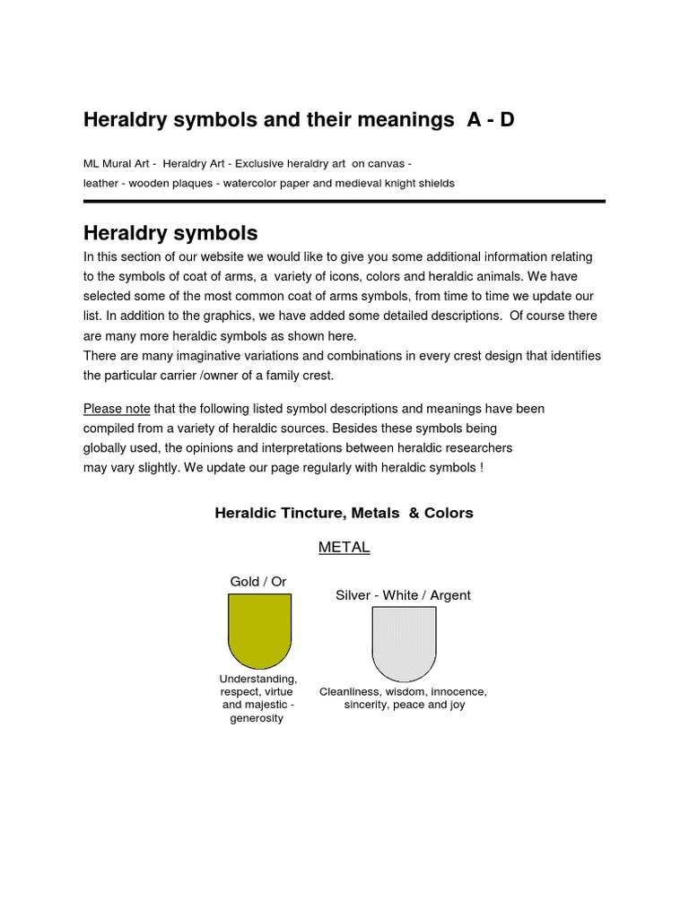 Heraldry symbols and meanings heraldry symbols biocorpaavc Images
