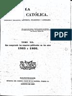 """Chile, """"Revista Católica (1865-1866)"""""""