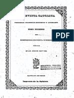 """Chile, """"Revista Católica (1843-1846)"""""""