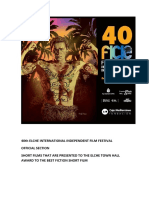 40th Elche International Independent Film Festival. Official Section. Fiction.