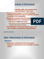 Major Determinants of Performance - Copy