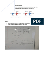 University of Surrey MSc RF Systems Week 9 Group Tasks - basics of amplifiers