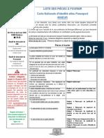 Carte d Identite Passeport Pour Les Personnes Mineures