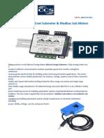 Get online BACnet Submeter & Modbus Sub Meters
