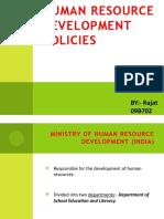 Human Resource Development Policies