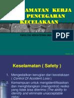Keselamatan Kerja & Pencegahan Kecelakaan