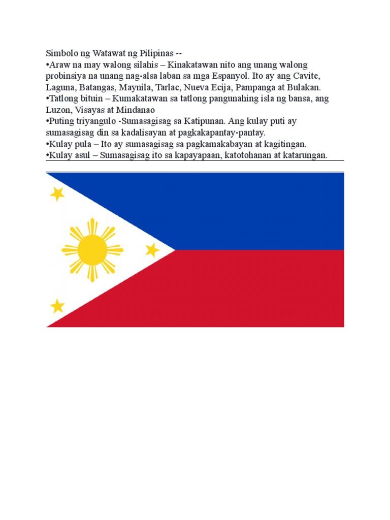 Simbolo Ng Watawat Ng Pilipinas